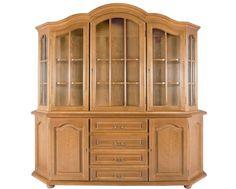 Vitrina trapez Mozart 3 este un mobilier rustic, din lemn masiv, cu design…