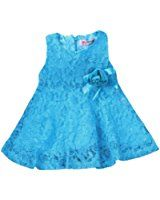 Rorychen Cute Baby Girls Sleeveless Lace Pleated Dress with Flower Party(0-24M)