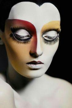 Alexa Yudina from Ira Bordo - Eye Makeup Makeup Fx, Makeup Inspo, Maquillage Halloween, Halloween Makeup, Extreme Makeup, Fantasy Make Up, Estilo Rock, Foto Fashion, Theatrical Makeup