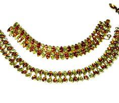 Kramer Rhinestone Necklace Bracelet Set Designer signed Amber Citrine by EclecticVintager on Etsy