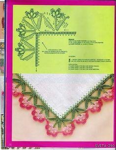 flower crochet border (plus many other borders)