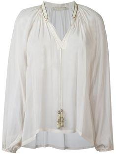 AMEN Tassel Neck Blouse. #amen #cloth #blouse