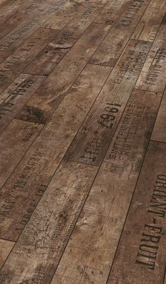Laminate flooring that looks like crates... how I love you...
