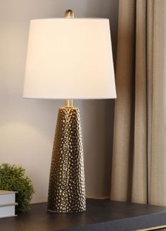 Bronze Hammered Table Lamp from Kirkland's