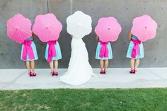 If I ever did it again, THIS would so be my color scheme and id totally do the Wedding umbrellas pink and blue