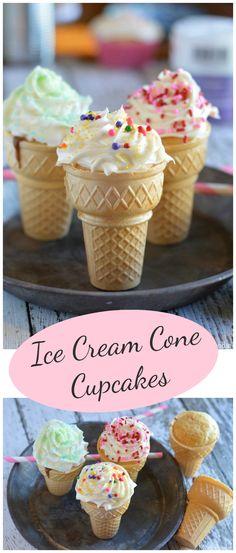 Ice Cream Cone Cupcakes... fun party dessert!