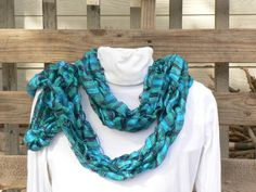 Arm Knit Ribbon Scarf by WarmButterfly on Etsy