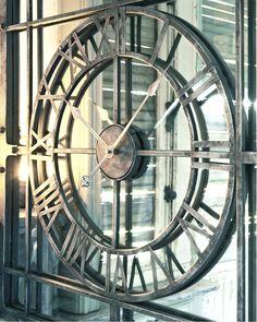 u2014 mirror wall clock extra large h77cm