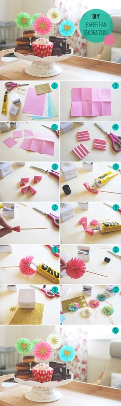 @Evan Sharp Case Collective are back this month with a cute paper fan DIY, perfect for place settings or to decorate cakes!