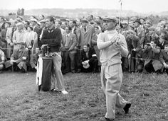 Ben Hogan hits a drive during the 1958 British Open at Carnoustie. He won by four shots and recorded an Open-record for the time of 282.