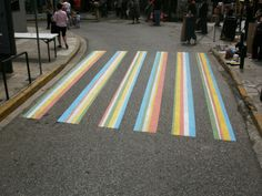 Commission for Menidi City council as part of a one day festival Pedestrian Crossing, Zebra Crossing, Walking Street, Murals Street Art, City Council, Street Signs, Public Art, Beach Mat, Art Projects