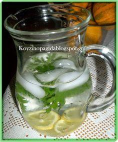 Κουζινοπαγίδα της Bana Barbi: Αρωματικό νερό με αρμπαρόριζα Mason Jars, Mugs, Drinks, Tableware, Food, Drinking, Beverages, Dinnerware, Tumblers