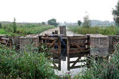 De voormalige schutsluis tussen de Poldervaart en de Delftse Schie, ten zuiden van buurtschap Kandelaar.
