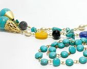 Turquoise and Gold Oriental Dream Necklace