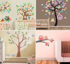 Adesivos de parede: decorando o quarto do bebê de diferentes formas... (do Blog da Sofia).