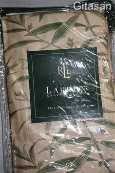 Ralph Lauren Standard Sham Desert Plains Perennial Retired Print Pillow Cotton #RalphLauren