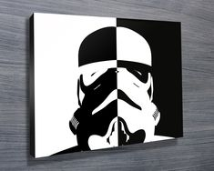 Stormtrooper black and white pop art http://www.bluehorizonprints.com.au/canvas-art/star-wars-art/Stormtrooper-pop-art/