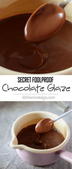 Secret Foolproof Chocolate Glaze - learn the secret to making the perfect chocolate glaze (icing, frosting) from a head pastry chef in a five-star hotel (Chocolate Fondant Donuts) Glazed Icing Recipe, Glaze Icing, Glaze For Cake, Icing Frosting, Frosting Recipes, Chocolate Glaze Recipes, Chocolate Donuts, Chocolate Frosting, Homemade Chocolate