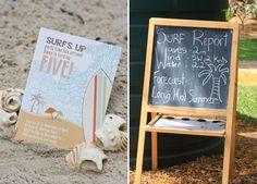 Love the surf report chalkboard