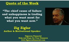 Quote of the Week (Jun-8-2014): Zig Ziglar on the chief cause of #failure.