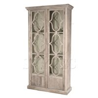 Decorative 2 Door Glass Cabinet White-Click for Larger Picture