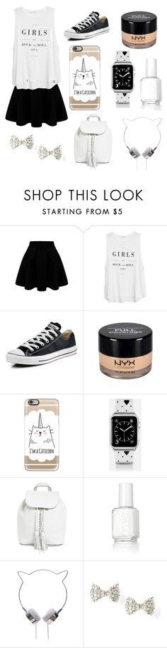 """""""#OOTD February 4, 2016"""" by chooseyourstyle321 on Polyvore featuring MANGO, Converse, NYX, Casetify, Rebecca Minkoff, Essie, women's clothing, women, female and woman"""