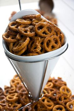 Salty, crunchy and so irresistible! Cinnamon Sugar Pretzels are simple to make with only 4 ingredients. They will be your favorite dessert, appetizer or snack in no time!