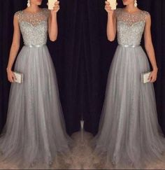 Elegant Gray A Line Chiffon Prom Dresses 2016 Sheer Sweetheart Beaded Bodice Formal Party Dress Long Evening Gowns Orange Prom Dresses Peach Prom Dresses From Angelia0223, $187.77| Dhgate.Com