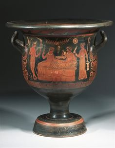 A LARGE APULIAN RED-FIGURE BELL KRATER, ATTRIBUTED TO THE HELBIG PAINTER CIRCA 350-340 B.C.