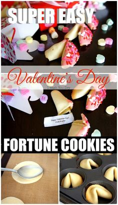 These super easy and super cute Valentine's Day Fortune Cookies are the perfect treat for your loved one! Hide a secret message inside! What a fun idea!