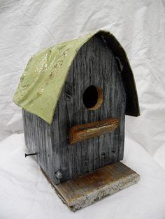 Barn birdhouse rustic birdhouse functional by LynxCreekDesigns, $49.99