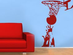 Sport wall decal Rebound boy wall decal teen wall by sohome99