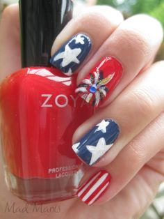 Fourth of July manicure! Get your mani for the fourth at tami's salon! :)