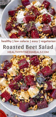 Chef Salad Recipes, Veggie Recipes Healthy, Beet Recipes, Vegetarian Recipes, Cooking Recipes, Roasted Beets Recipe, Roasted Beet Salad, Cooking Beets
