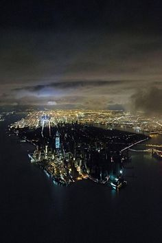 A view of blacked out Manhattan by Iwan Baan