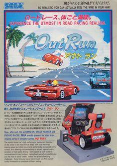 OutRun arcade flyer (1986)