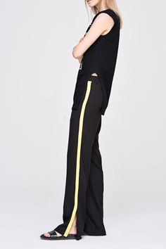 Versatile Baggy Pant with Pinstripe - FrontRowShop