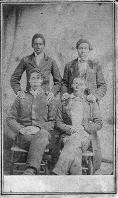 Four African American Men during U.S. Civil War