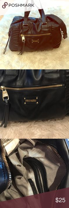 b2abd923cb78 Purse All black great condition Steve Madden Bags Satchels Steve Madden  Bags