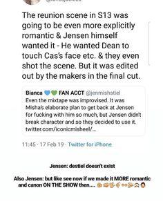 Supernatural Destiel, Supernatural Seasons, Jared Padalecki, Misha Collins, Jensen Ackles, Punch In The Face, Show Video, Cockles, Dean Winchester