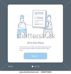 Business illustration concept of data and documents processing, access, transmission or data availability in one place. Cartoon people receive and transfer documents. Flat line vector design concept.