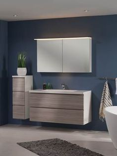 Foss Bad Variant 120 cm Natur - Lilly is Love Ral Colours, Polished Concrete, Bathroom Styling, Unique Colors, Bathtub, Mirror, Furniture, Inspiration, Design