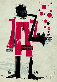 JAZZ - plakaty jazzowe, Plakat do wystawy. Poster Design, Graphic Design Posters, Art Design, Graphic Design Inspiration, Graphic Art, Jazz Poster, Retro Poster, Arte Jazz, Jazz Art