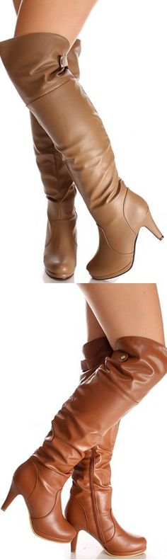 4aa3027451c Need some boots to complete your OOTD  Well these over the knee low heel  boots