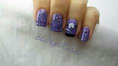 Purple minion nail art. #cutepolish