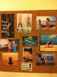 Make a fitness goal board and remind your self why you started and think about that fit toned body you've always wanted.