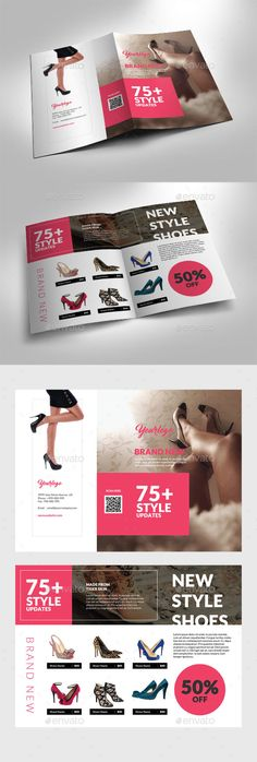 Fashion Shoes Bifold Brochure - Catalogs Brochures Download here : https://graphicriver.net/item/fashion-shoes-bifold-brochure/19456719?s_rank=63&ref=Al-fatih