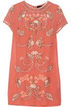 Needle & Thread|Mini-robe en mousseline à ornements Gilded Filigree|NET-A-PORTER.COM