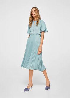Vestido falda plisada - Vestidos de Mujer af677b26178b