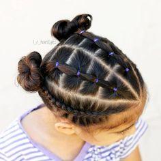 This cute elastics & dutch braid style is inspired by ♡♡ …. This cute elastics & dutch braid style is inspired by ♡♡ . Box Braids Hairstyles, Little Girl Braid Hairstyles, Little Girl Braids, Cute Girls Hairstyles, Kids Braided Hairstyles, Girls Braids, Teenage Hairstyles, Black Hairstyles, Toddler Hairstyles
